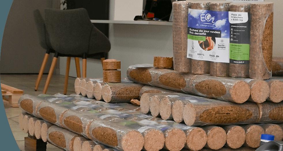 Granulés bois et bûches densifiées